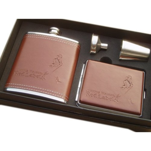 [G] Creative Hiking/Camping Stainless Steel Hip Flask Set, 7oz