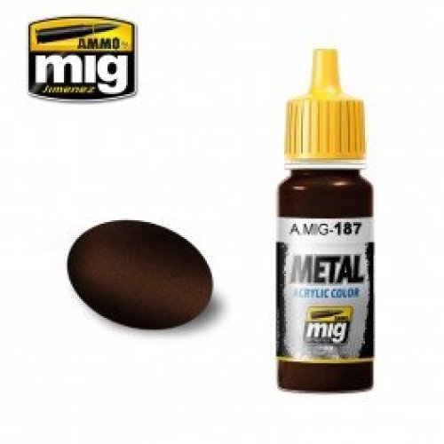 Mig Ammo Acrylic Metallic Paint (17ml) - Jet Exhaust Burnt Iron