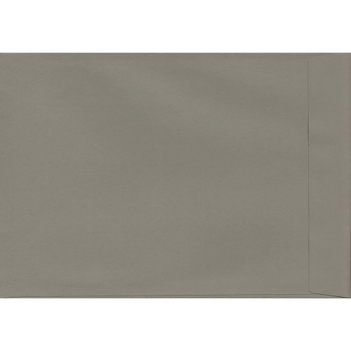 Storm Grey Peel/Seal C4/A4 Coloured Grey Envelopes. 120gsm Luxury FSC Certified Paper. 324mm x 229mm. Pocket Style Envelope.