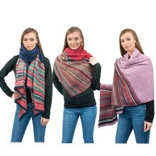 Miss Lulu Women Stripe Scarf Winter Warm Shawl
