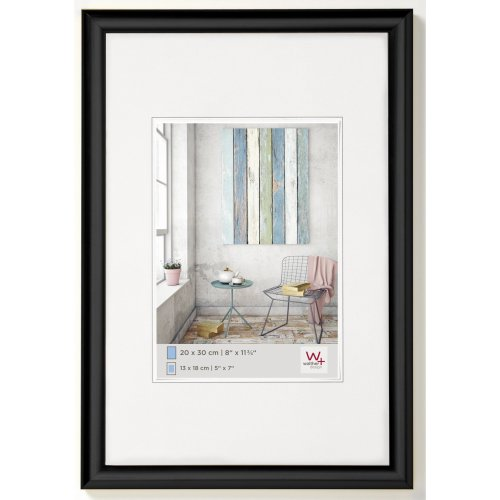walther design KP460B Trendstyle picture frame, 15.75 x 23.50 inch (40 x 60 cm), black