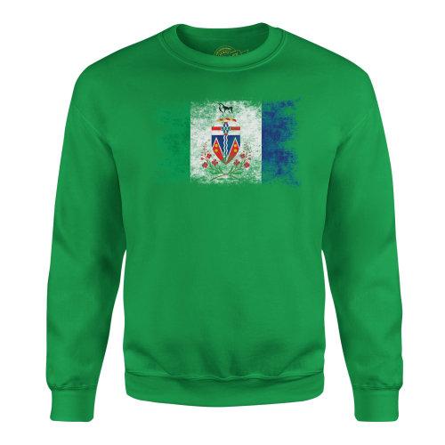 Candymix - Yukon Distressed Flag - Unisex Adult Sweatshirt, Size Medium, Colour Irish Green