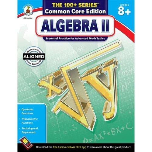 Carson Dellosa CD-704386 Algebra Ii Book Grades 8 & Up