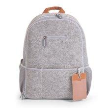 CHILDWOOD Nursery Backpack Felt 45x32x20 cm Light Grey CCFNBPG
