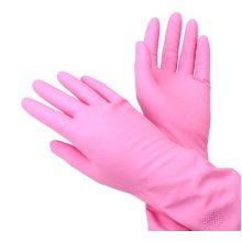 2 Packs Thickening Wash Cleaning Gloves Latex Gloves Housework Gloves PINK