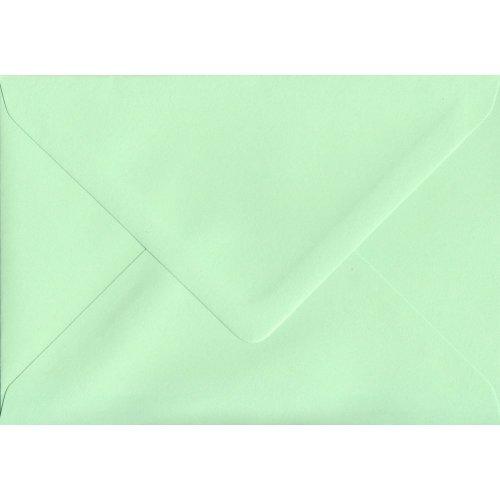 Mint Green Gummed C5/A5 Coloured Green Envelopes. 100gsm FSC Sustainable Paper. 162mm x 229mm. Banker Style Envelope.