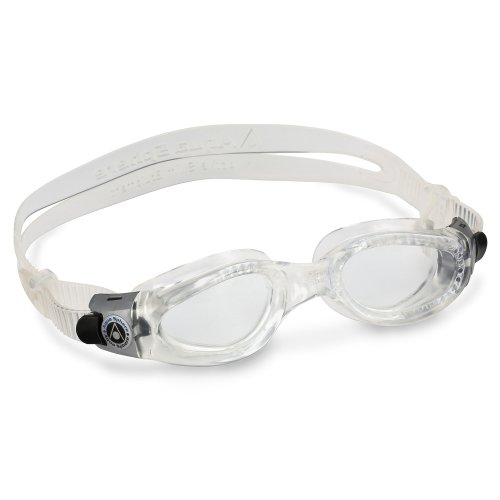 Aqua Sphere Unisex Adult Kaiman Small Fit Men's and Women's Swimming Goggles, Clear (Clear Lens), Small