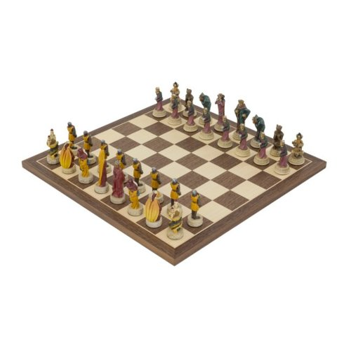 The Good vs Evil hand painted themed Chess set by Italfama