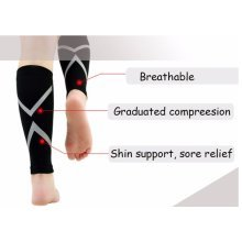 Calf Support Compression Sleeve Guard Reflective