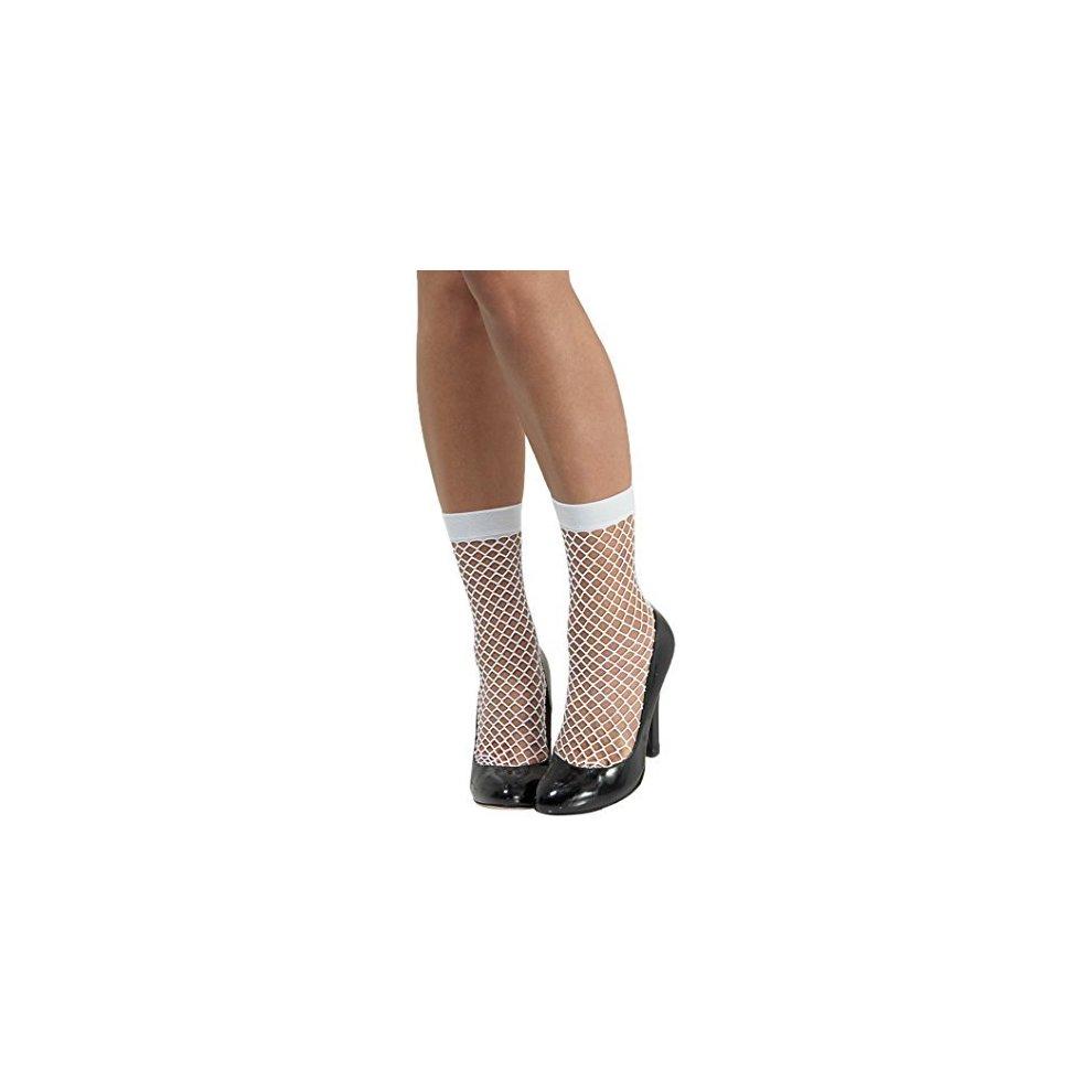 92042c0356749 Smiffy's 48706 Fishnet Socks, White, One Size - fishnet socks ladies fancy  dress accessory white short stockings adults costume 1980s punk rocker on  OnBuy
