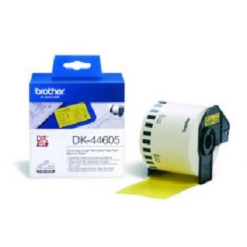 Brother DK-44605 Continuous Removable Yellow Paper Tape (62mm) Yellow DK