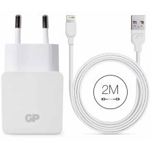 GP USB Wall Charger WA23 with Lightning Cable 2 m 150GPWA23CB21C1