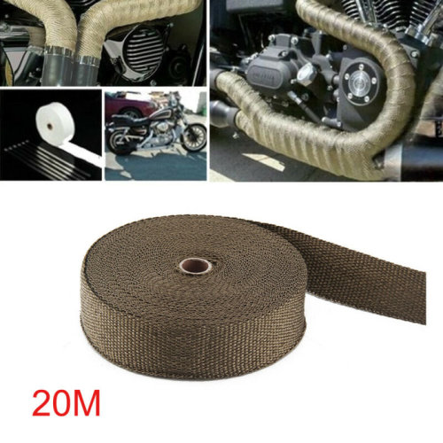 20M TITANIUM EXHAUST HEAT WRAP EXHAUST MANIFOLD GOLD HIGH TEMP INSULATING TAPE