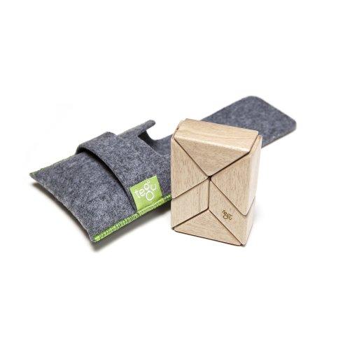 94c266b5 6 Piece Tegu Pocket Pouch Prism Magnetic Wooden Block Set, Natural on OnBuy