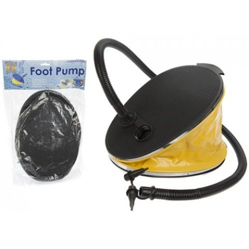 6ltr Bellows Foot Pump With An Attachable Hose -  pump new garden camping foot 2 size connector travels airbed inflatables