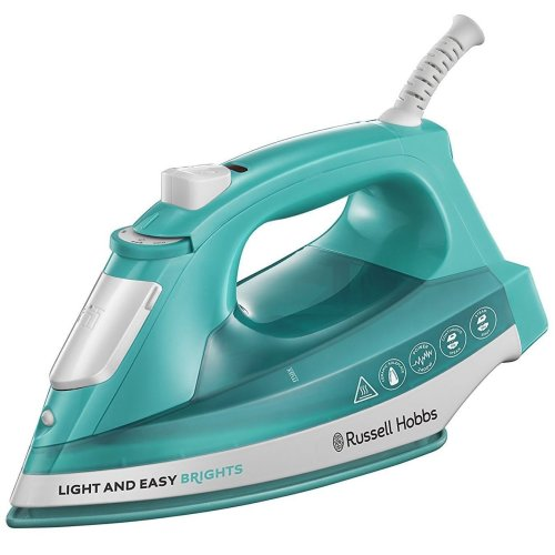 Russell Hobbs 24840 Light & Easy Brights Steam Iron Ceramic Soleplate 2400W Aqua