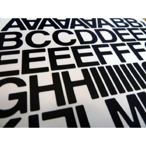 1 inch Sticky Self Adhesive vinyl letters & Numbers (Black)