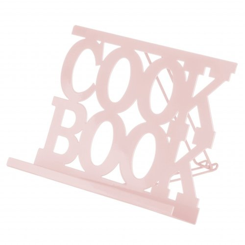 Pink Contemporary Cookbook Stand | Letter Recipe Stand
