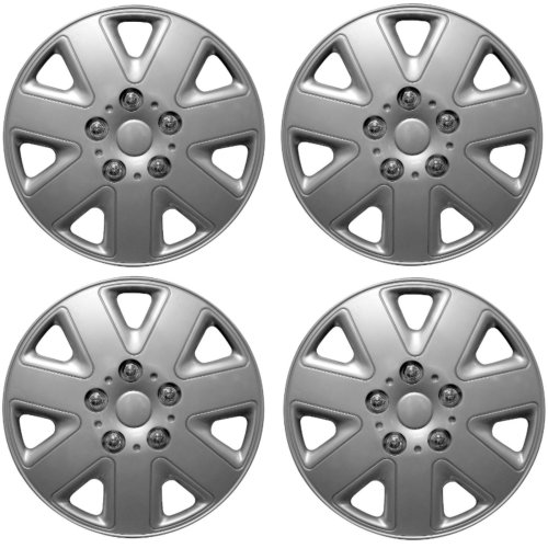 "Streetwize Hurricane Car Wheel Trim Set 14"" Silver Set Of 4 Hub Caps Covers"