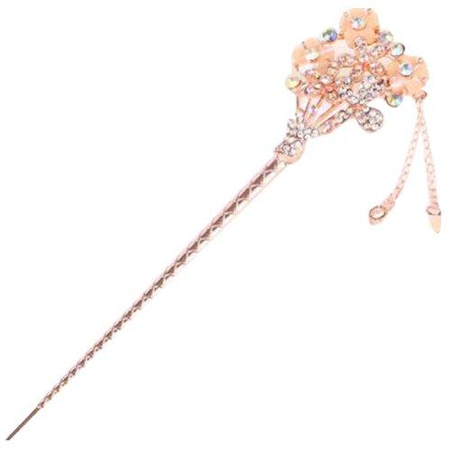 Popular Hairpin Hair Ornaments Hair Clip Headwear Hairpin Crown Beige