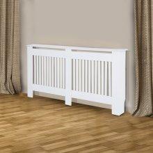 Homcom Slatted Radiator Cabinet | White Heater Cover