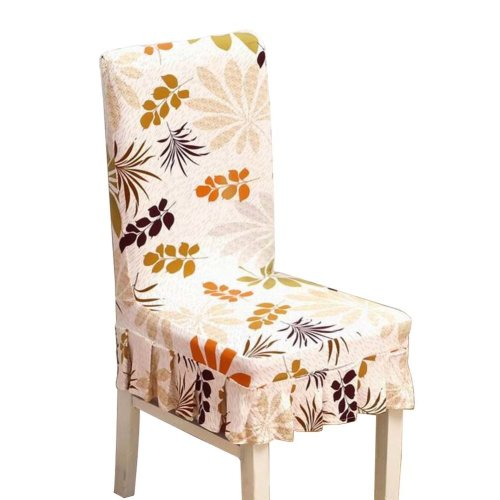 [Leaves-01] Stretch Dining Chair Slipcover Chair Cover Chair Protector