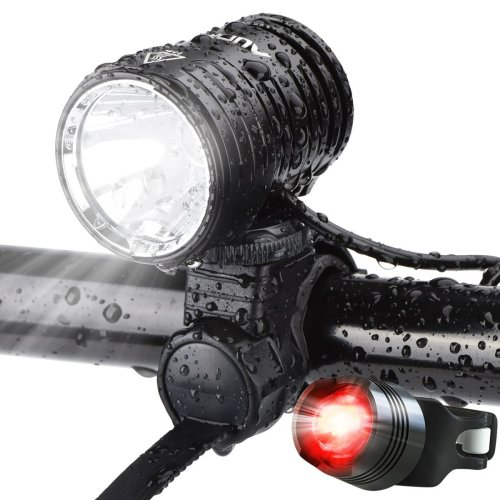 AUOPRO LED Bike Light Set, 1200 Lumens Cycling Headlight USB Rechargeable and Safety Back Taillight, CREE Bicycle Lights Front and Rear, Cycle...