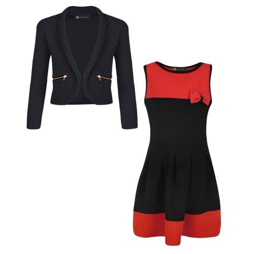 Girls Dress Zip Pockets Jacket Bundle
