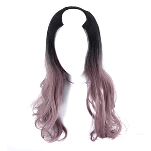 U-shaped Half Head Cover Stealth Seamless Straight Hair Curls#M