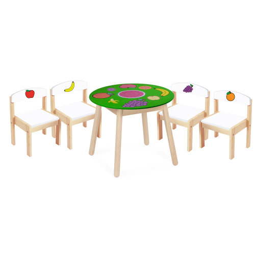 Fruit Table And Four Chairs