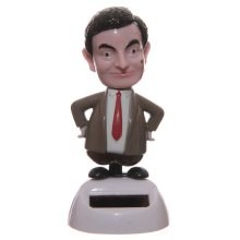 Solar Powered Mr Bean Pal Nodding Dancing Novelty Home Car Window Dashboard Ornament Fun