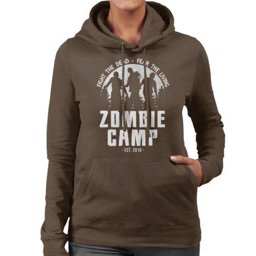 Zombie Camp The Walking Dead Women's Hooded Sweatshirt