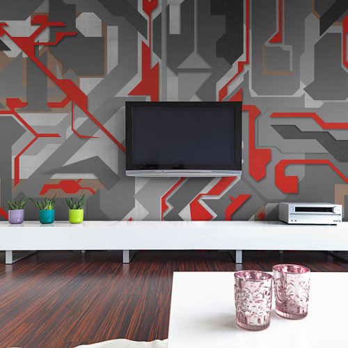 Wallpaper - Abstract geometric paths