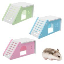 Pet Mouse Hamster House Villa Cage Bed