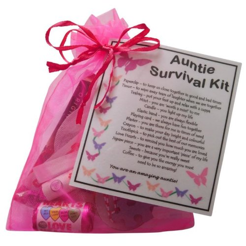 Auntie Survival Kit - Great present for Birthday, Christmas or just because ...