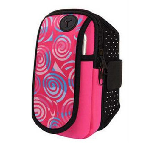 Cell Phone Arm Package Rose Red Arm Band Outdoor Sports Armband with Key Holder