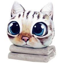 Cute Cat Bedroom Cushion Sofa Cushion Home Pillowcase(Insert&Quilt Includedd)