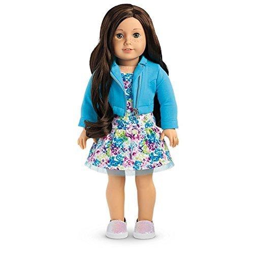 American Girl - 2017 Truly Me Doll Light Skin, Freckles, Dark Brown Hair, Hazel Eyes DN55