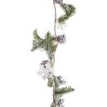 Pine Cone, Snowflake & Artificial Green Fir Woodland Christmas 125cm Garland