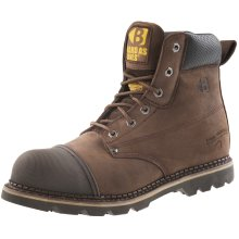 Buckler B301SM Anti-Scuff Safety Work Boots Chocolate Oil (Sizes 6-13) Men's