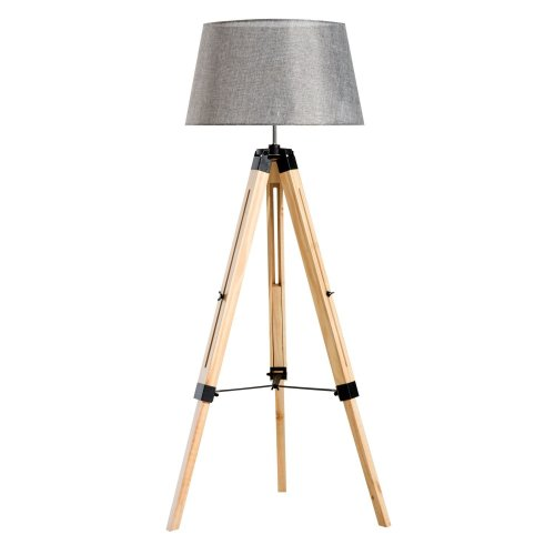 Homcom Wooden Adjustable Tripod Floor Lamp