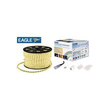Eagle Static LED Rope Light Kit With Wiring Accessories Kit 45m warm white