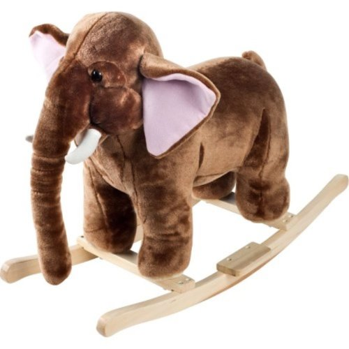 Happy Trails Plush Rocking Mo Mammoth with Sounds