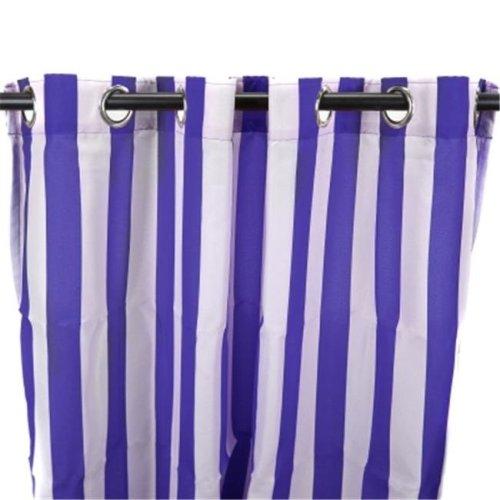 Jordan Manufacturing 3VOC5484-1330Q 544 in. x 84 in. Outdoor Curtain - Stripe Blue