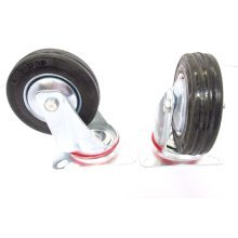 """4"""" Toolzone Swivel Castor -  4 inch swivel castor 100mm wheels trolley rubber pack rm009 casters"""
