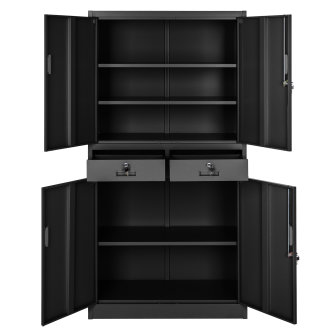 Filing cabinet with 2 drawers black