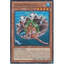 YuGiOh  Toon Mermaid (LCYWEN105)  Legendary Collection 3: Yugi's World  1st Edition  Rare