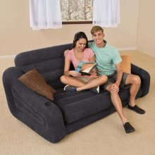 Intex 68566 Inflatable Couch Convertible Into Double Bed