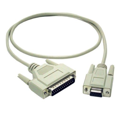 C2G 2m DB9 F/DB25 M Cable 2m DB25 DB9 Grey serial cable