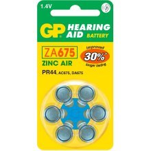 GP Batteries Hearing Aid ZA675 Zinc-Air 1.4V non-rechargeable battery